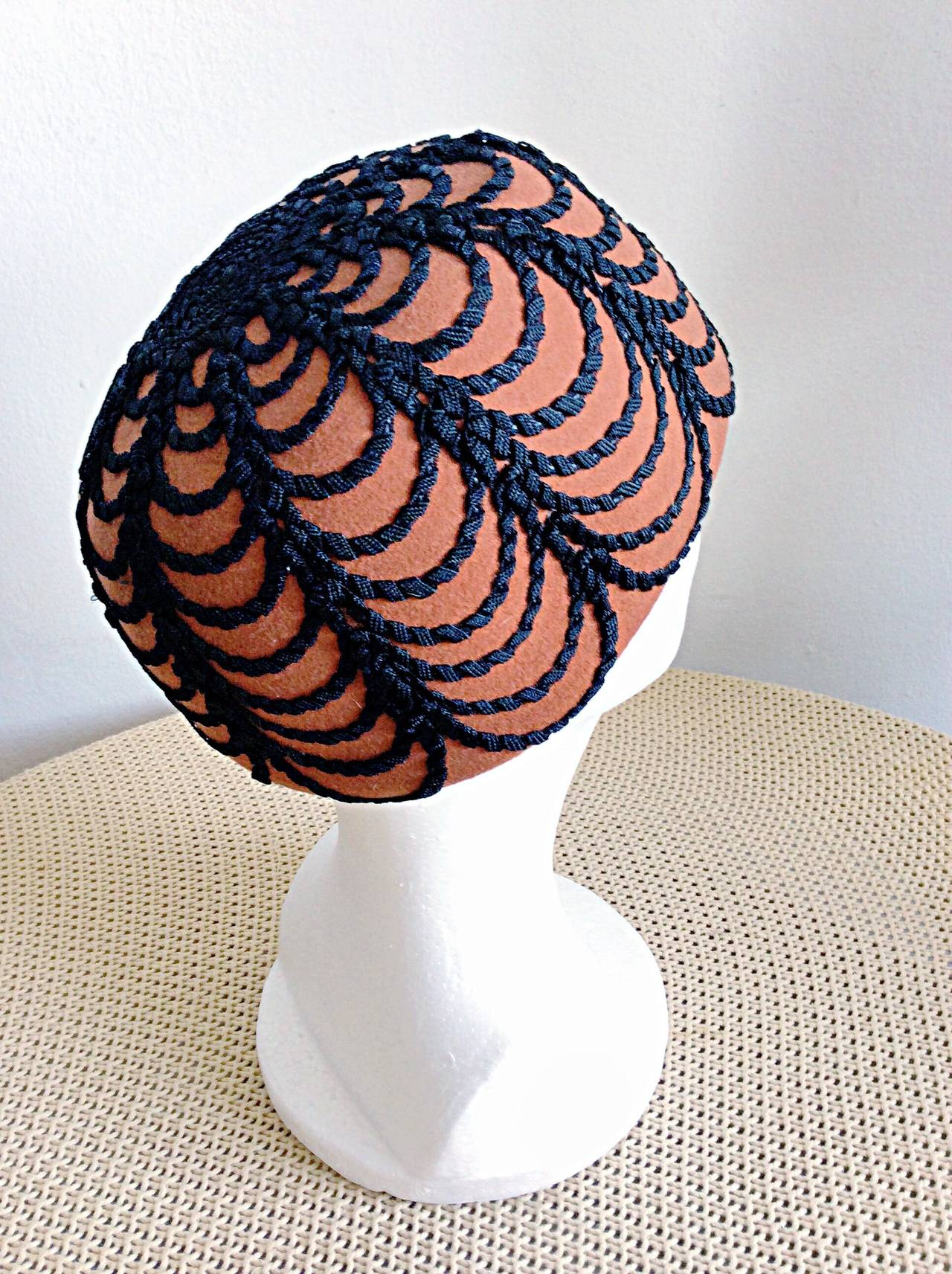 Women's Incredible Vintage 1960s Henry Pollak for Glenover Russian Pillbox Hat For Sale