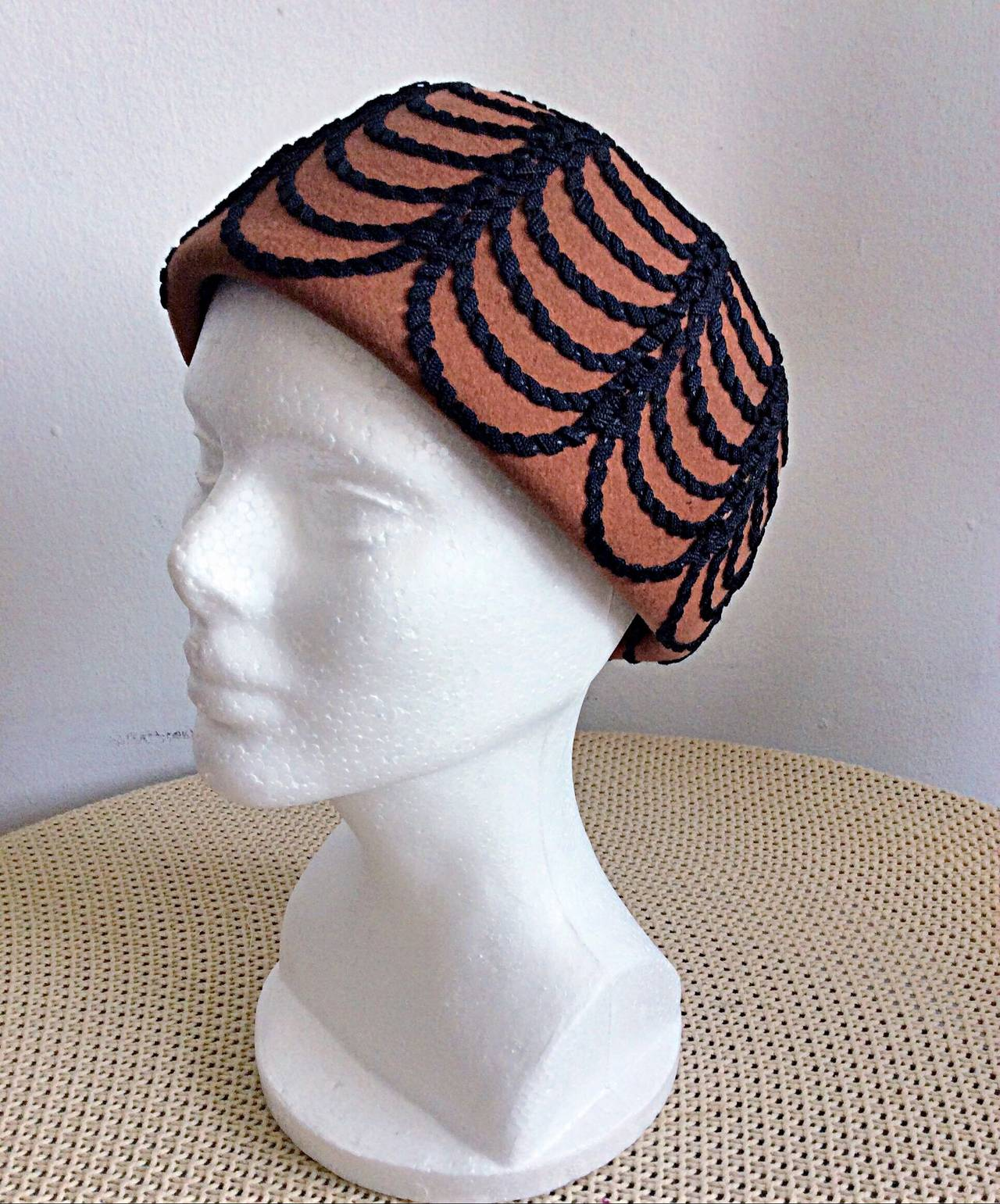 Incredible Vintage 1960s Henry Pollak for Glenover Russian Pillbox Hat For Sale 1