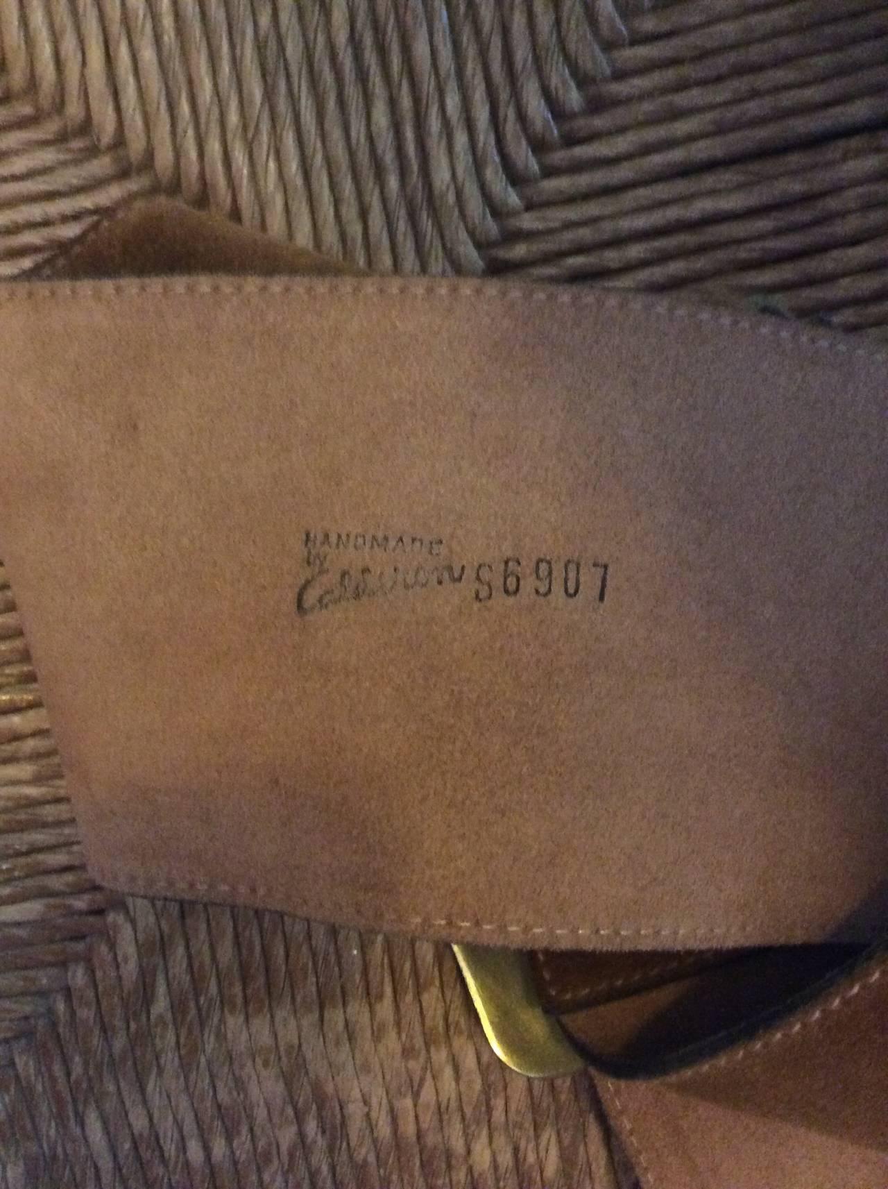 1960s 1970s Brand New Vintage Calderon Oversized Jumbo Tan Suede Boho Belt 6