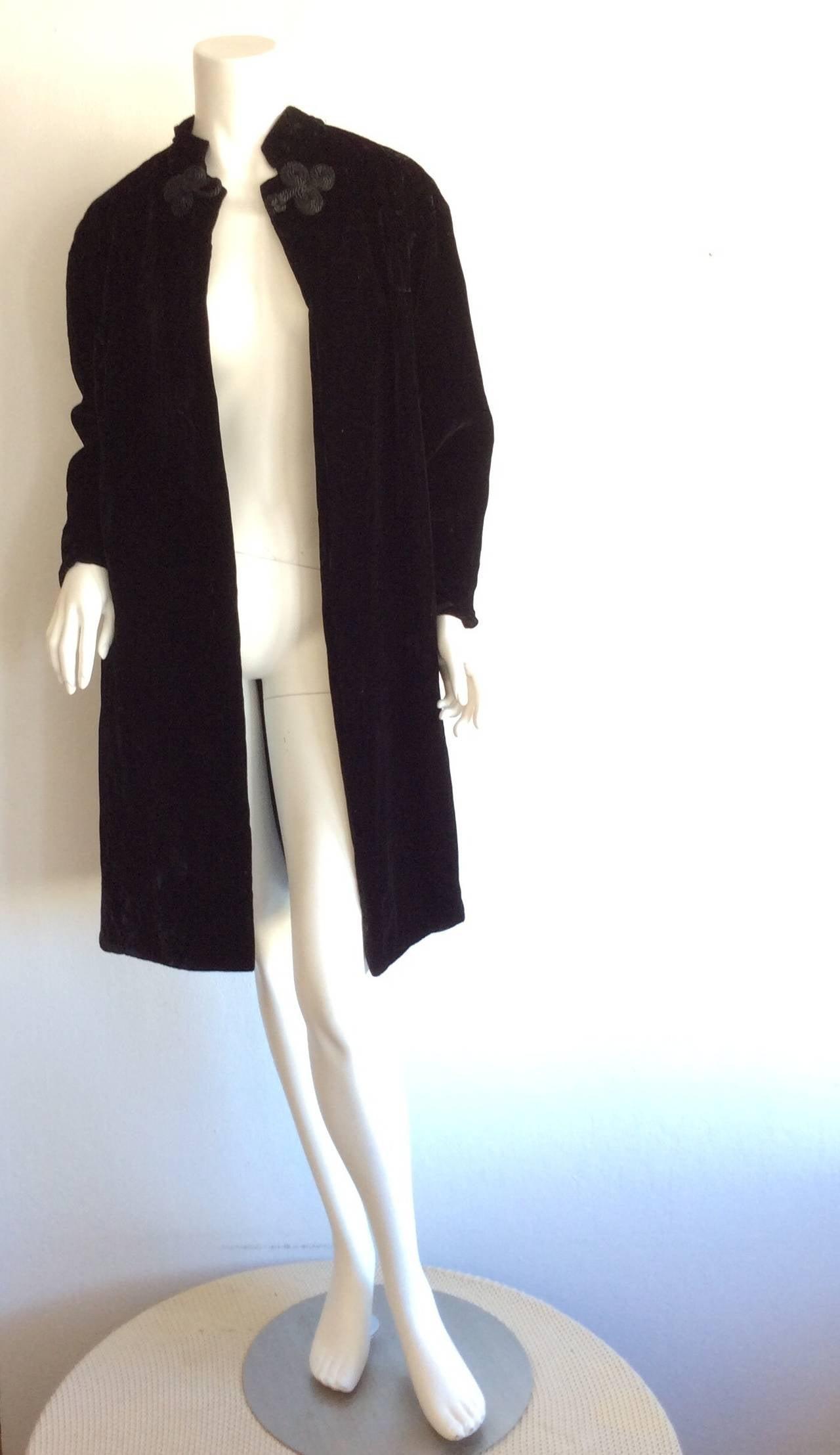 Extremely Rare 1950s Ceil Chapman Black Velvet Milium Cloak Jacket 3