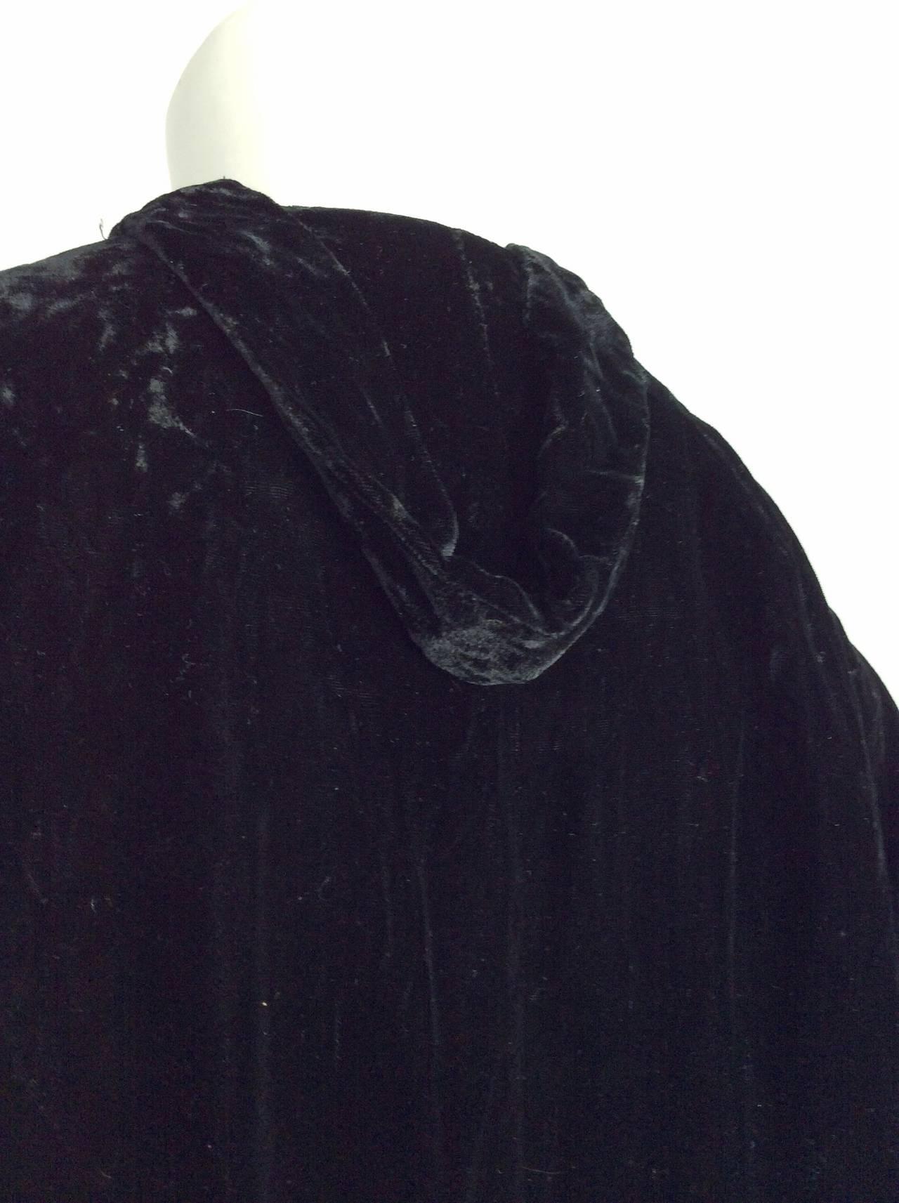 Extremely Rare 1950s Ceil Chapman Black Velvet Milium Cloak Jacket 6
