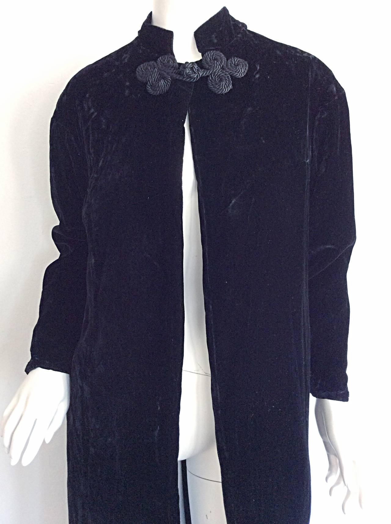Extremely Rare 1950s Ceil Chapman Black Velvet Milium Cloak Jacket 7