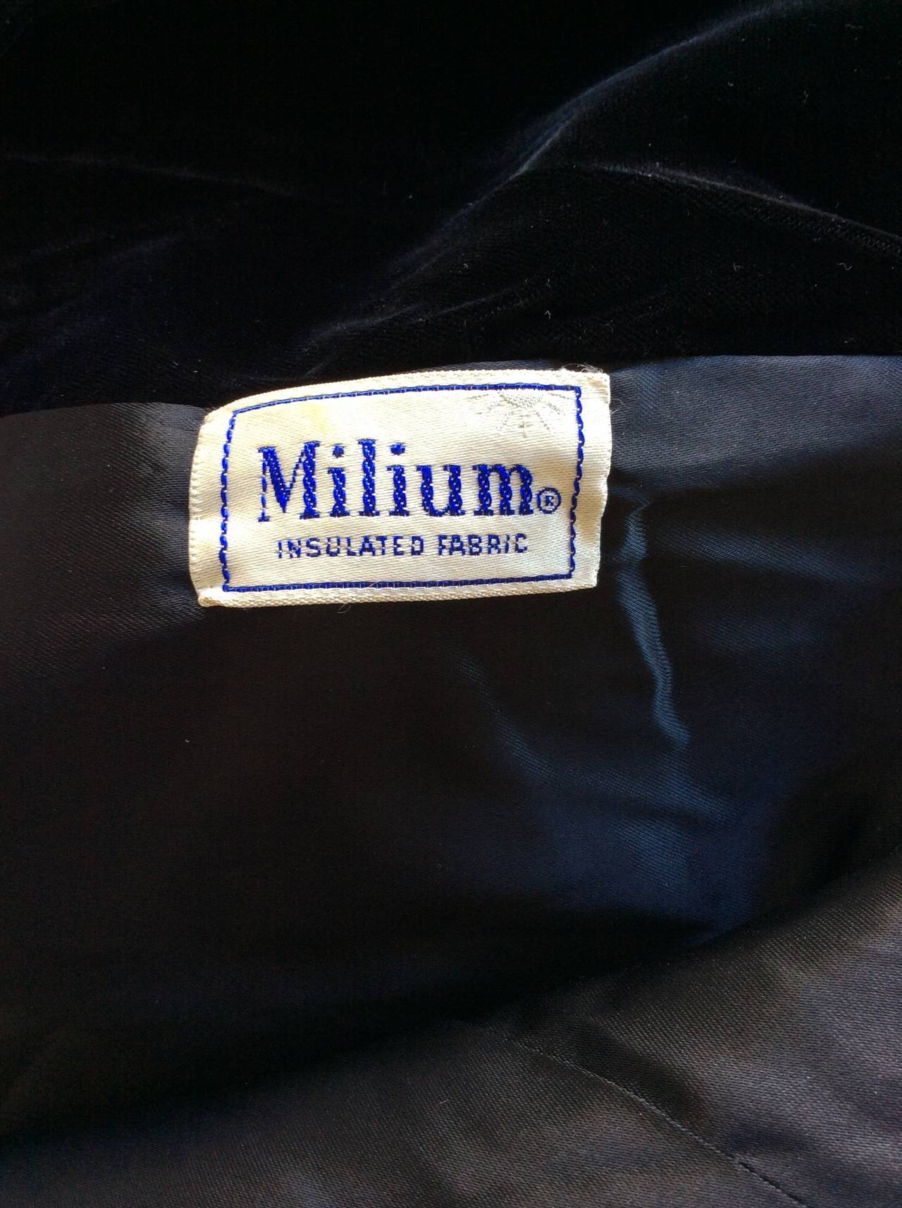 Extremely Rare 1950s Ceil Chapman Black Velvet Milium Cloak Jacket 10