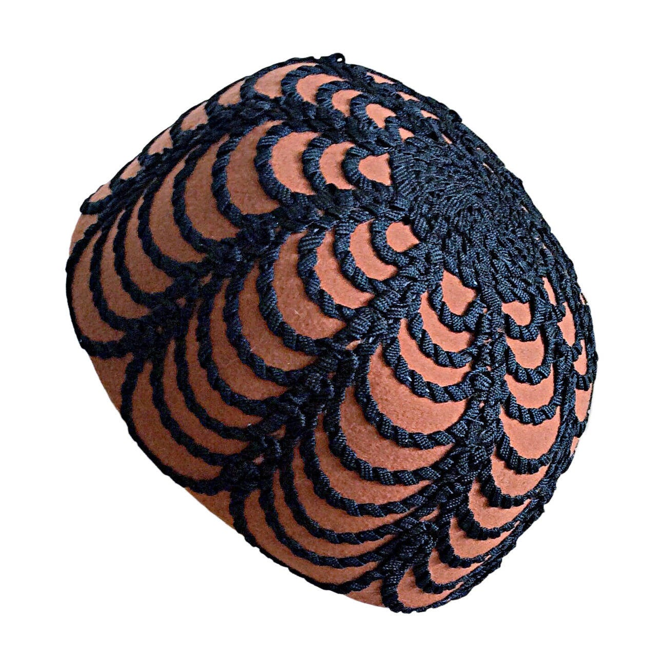 Incredible Vintage 1960s Henry Pollak for Glenover Russian Pillbox Hat For Sale