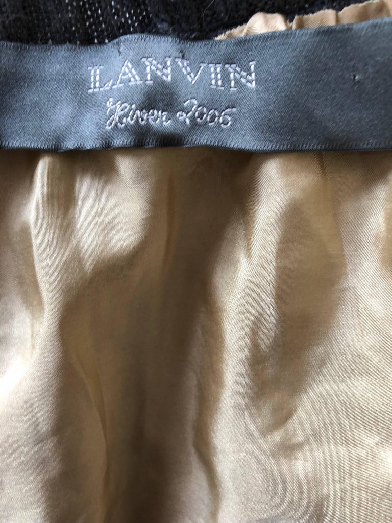 Lanvin Hiver 2006 Charcoal Grey Alpaca + Silk Button Up Cardigan Sweater For Sale 5