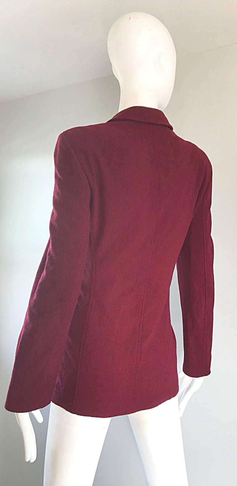 Vintage Calvin Klein Collection 1990s Burgundy Maroon Size