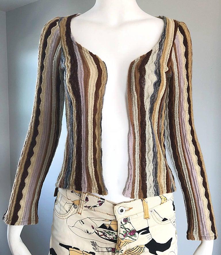 Missoni Home Nordstrom Rack: Missoni Vintage Pink Brown Ivory Striped Open Front