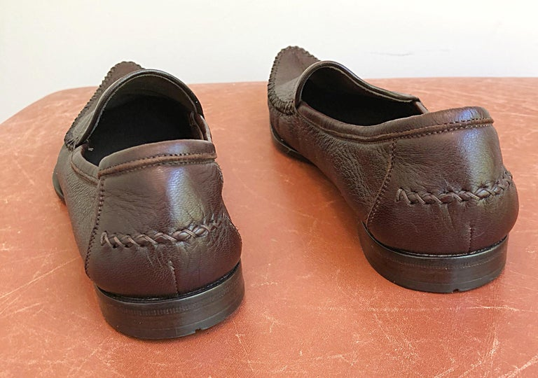 6af5c5d7469 Bottega Veneta Size 38.5   8.5 Chocolate Brown Women s Flats Loafers Shoes  In Excellent Condition For