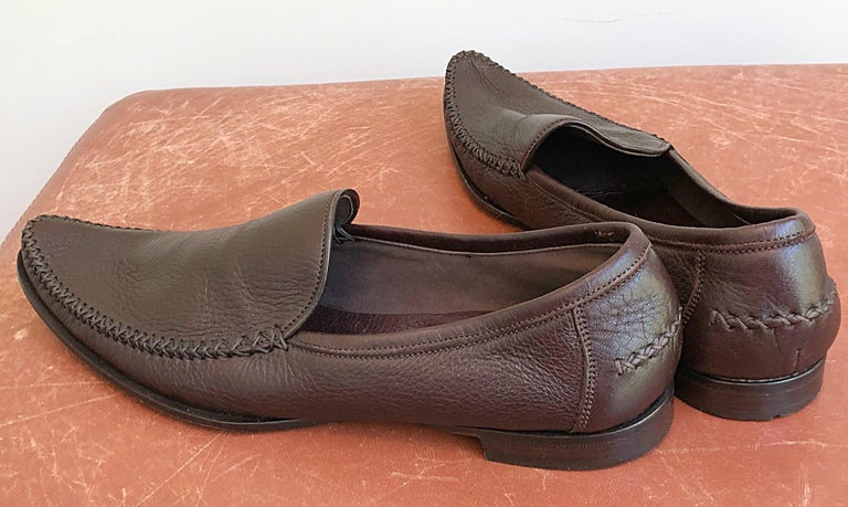16008667d89 Bottega Veneta Size 38.5   8.5 Chocolate Brown Women s Flats Loafers Shoes  For Sale 1