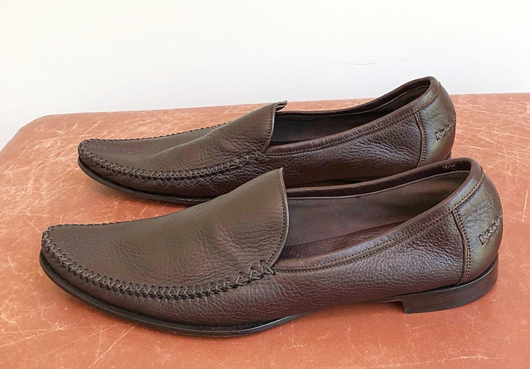 85871f73134 Bottega Veneta Size 38.5   8.5 Chocolate Brown Women s Flats Loafers Shoes  For Sale 2