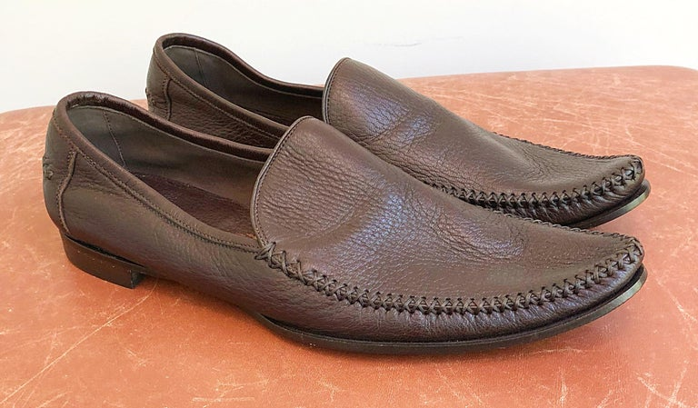 372c67ef09a Bottega Veneta Size 38.5   8.5 Chocolate Brown Women s Flats Loafers Shoes  For Sale 6