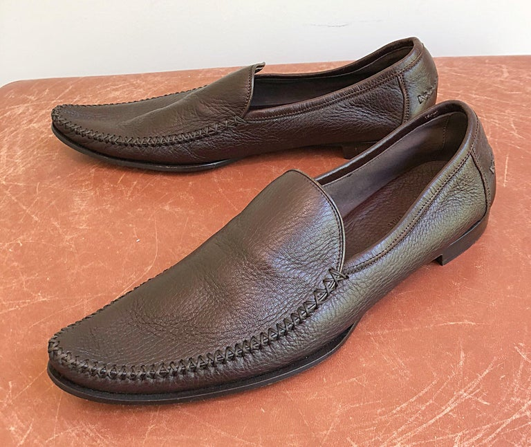 Bottega Veneta Size 38.5 / 8.5 Chocolate Brown Women's Flats Loafers Shoes For Sale 9