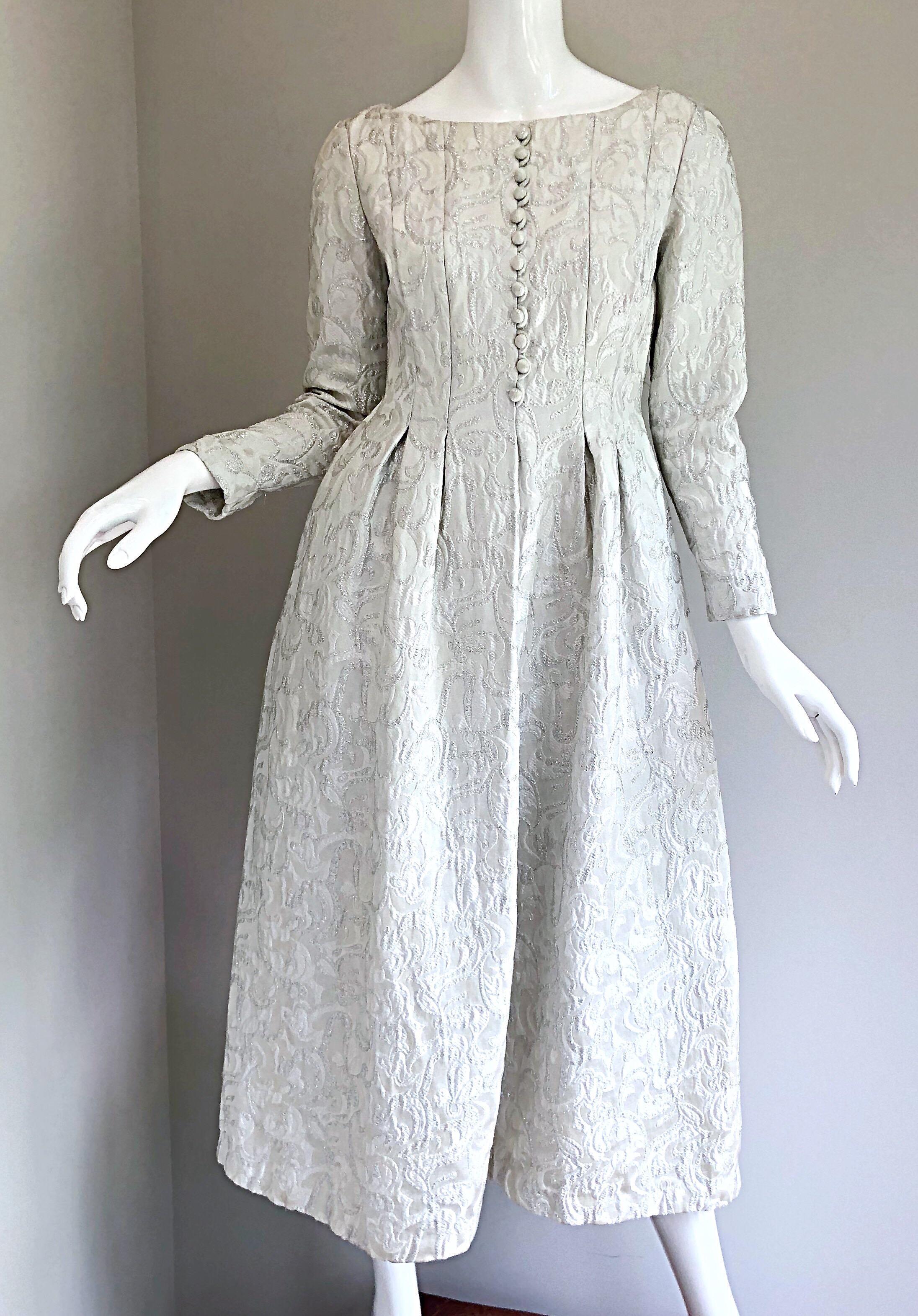 Brocade Midi Dress