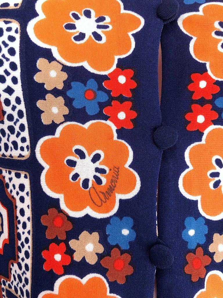 Purple 1960s Armonia Italian Jersey Bell Sleeve Vintage 60s Mod Tunic + Mini Skirt For Sale