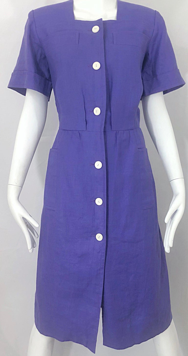 Vintage Yves Saint Laurent Size 46 12 14 Lavender Lilac