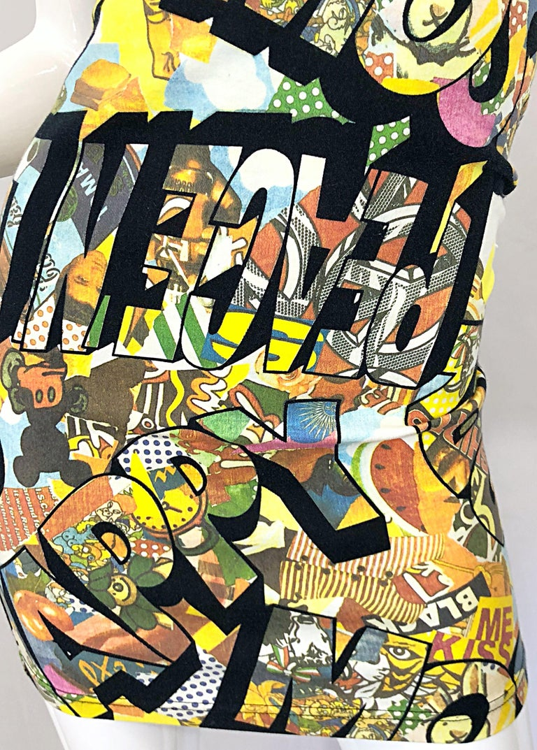 Vintage Moschino 1990s Mickey Mouse Disney Iconic Novelty Print 90s Mini Dress For Sale 1