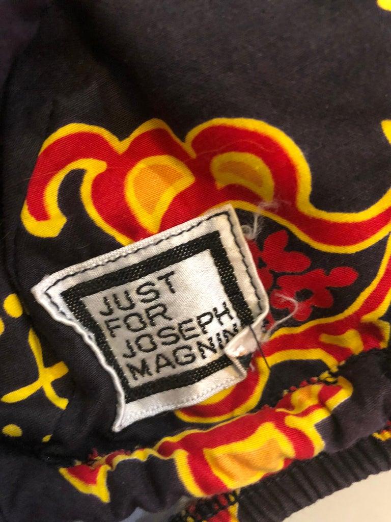 1970s Joseph Magnin Bandana Print Brown Vintage 70s Cotton Two Piece Bikini For Sale 9