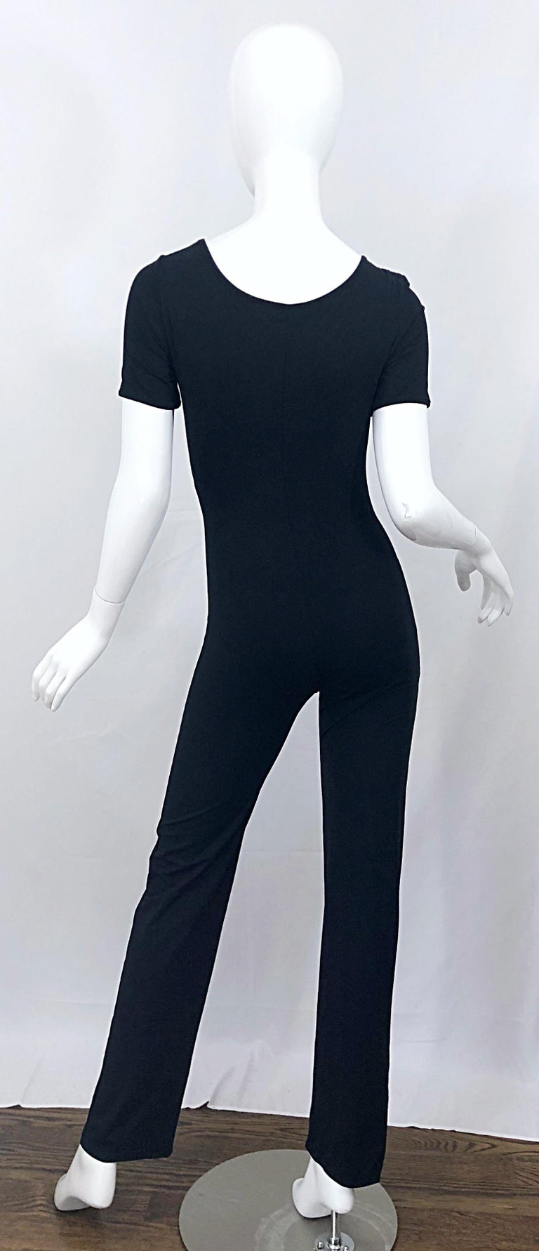 Women's 1990s Dolce & Gabbana Black and White Athletic One Piece Vintage 90s Jumpsuit For Sale