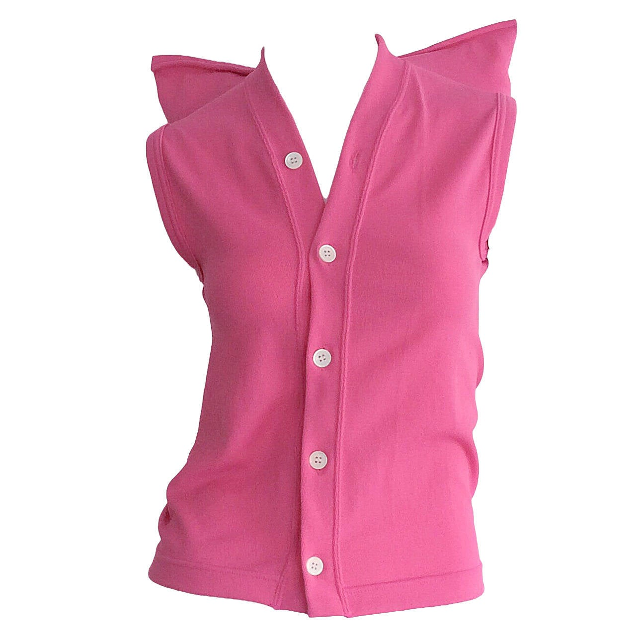 1990s Vintage Comme des Garcons Hot Pink ' Judy Jetson ' Shirt Blouse For Sale