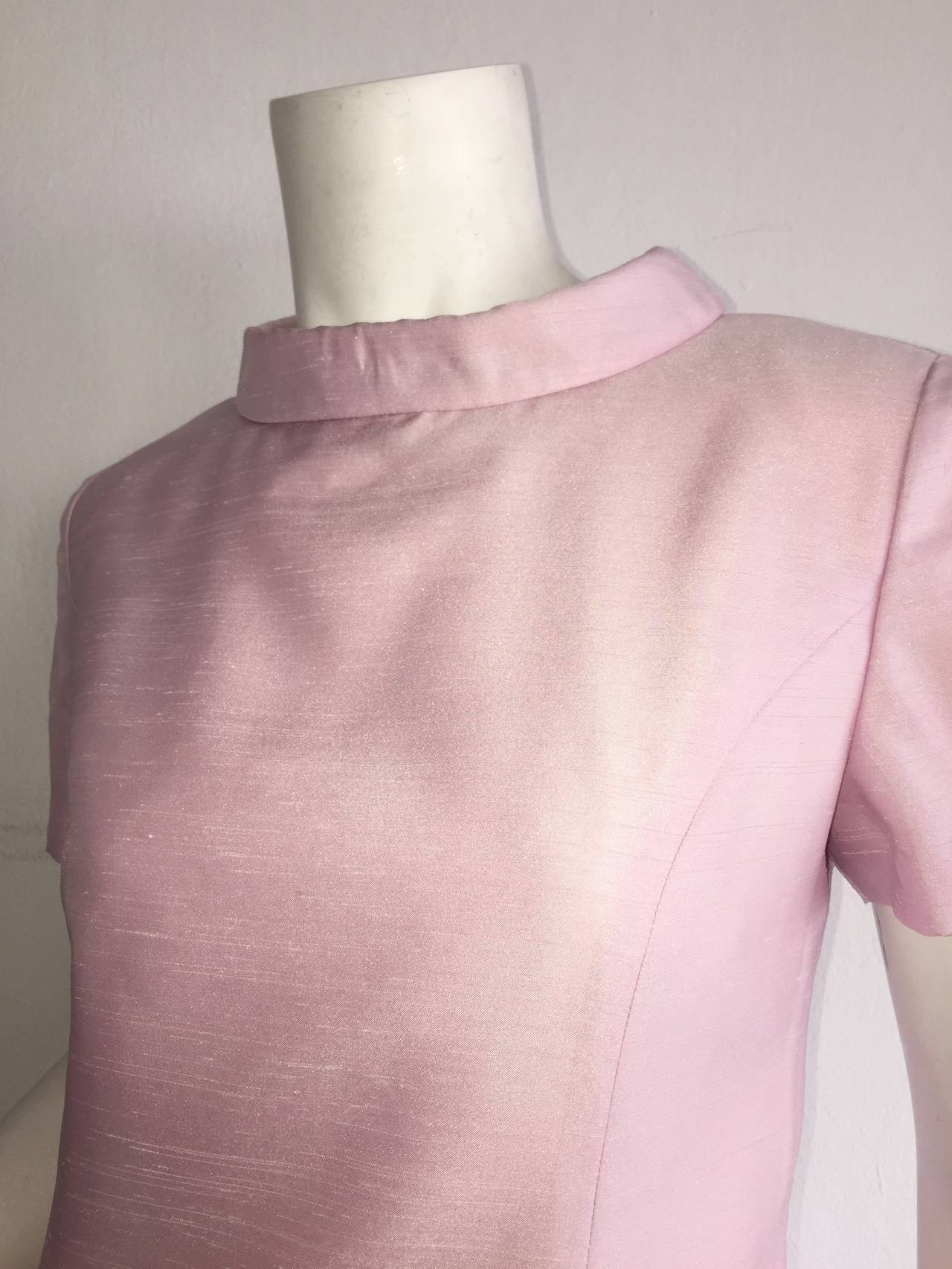 Vintage Courreges Light Pink Silk Jackie O Pillbox E Age Dress In Excellent Condition For