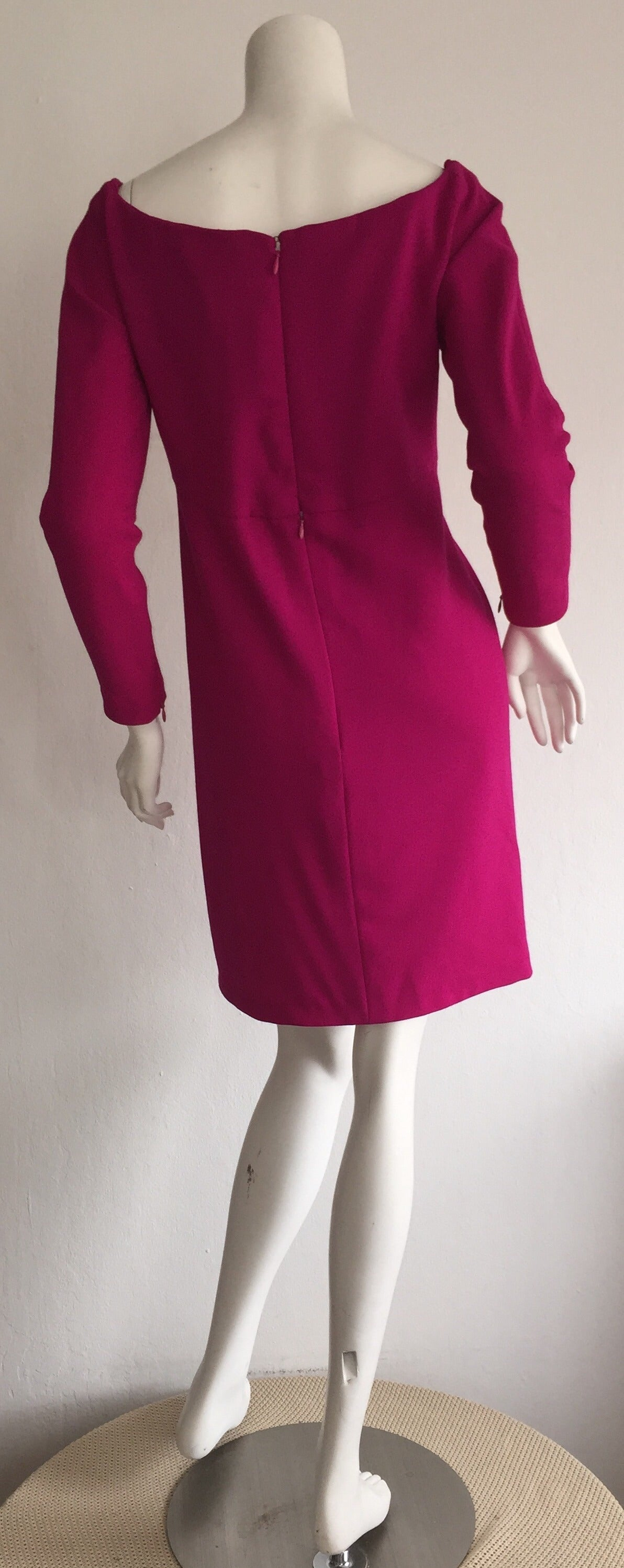 9d29d8b3fbe Vintage Carolyne Roehm Neiman Marcus Fuchsia Pink Babydoll Cocktail Dress  In Excellent Condition For Sale In