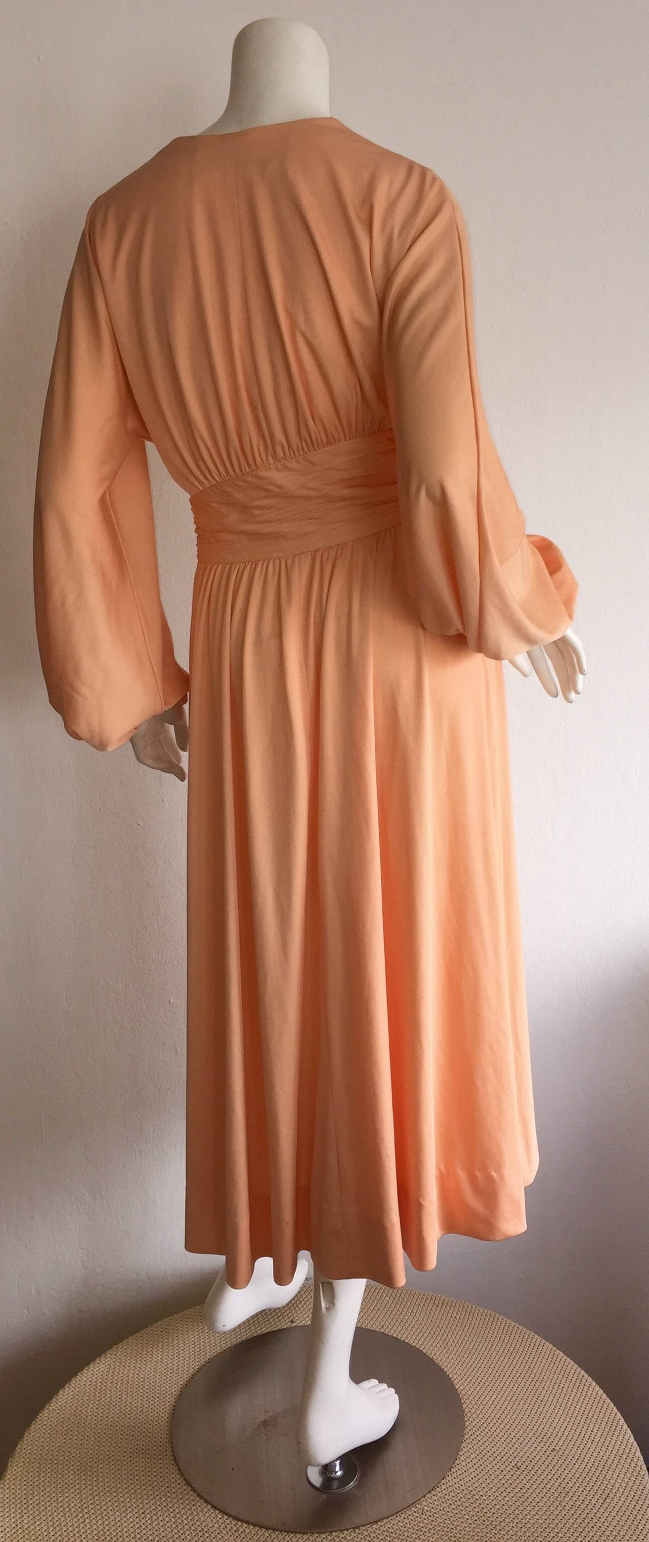 Orange Stunning Vintage Donald Brooks 1970s C Jersey Disco 70s Pink Wrap Dress For