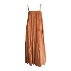 Chic Vintage Cacharel Cotton Terra Cotta Patchwork French Sundress