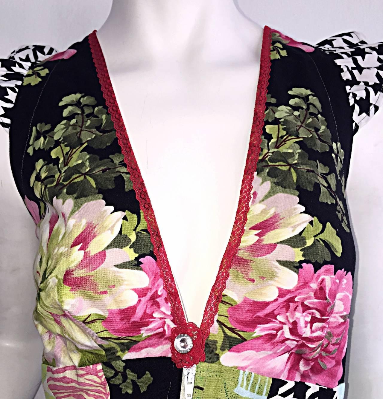 Women's Amazing 1970s Vintage Bohemian Patchwork Cotton Maxi Dress For Sale