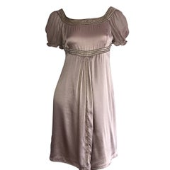 Marc Jacobs Champagne Gold / Beige ' Fluid ' Silk Romantic Babydoll Dress