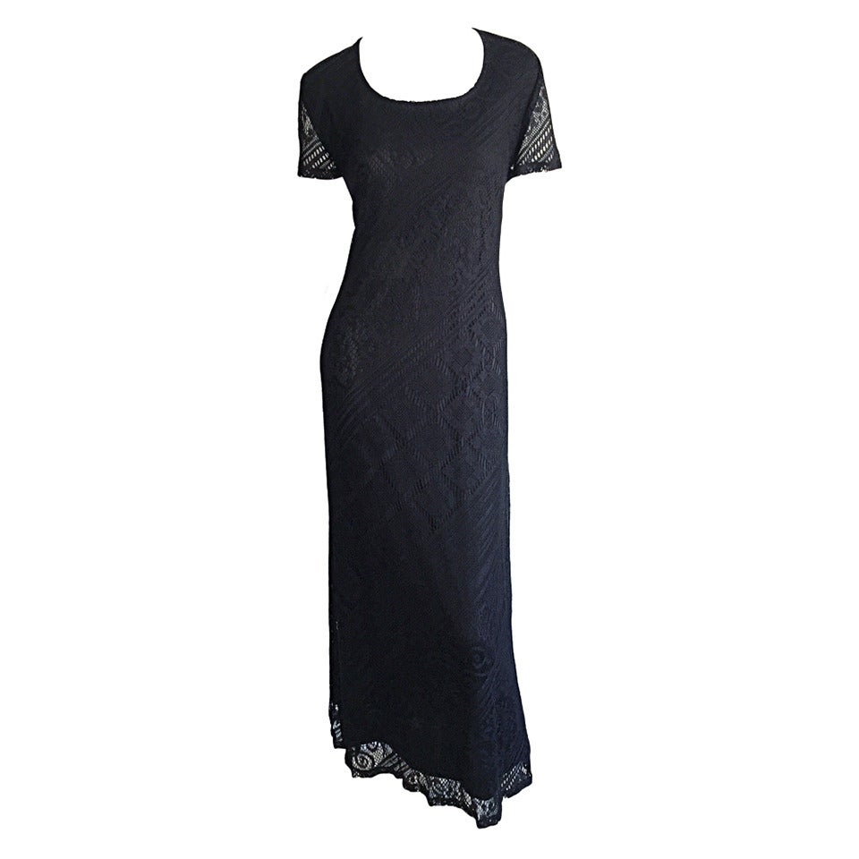 Giorgio d' Sant Angelo Black Lace ' Flapper ' Style Dress