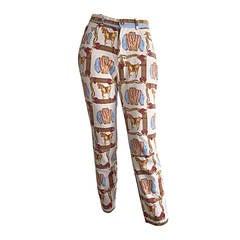 Marina Sitbon for Kamosho Equestrian High Waisted Slim Vintage Trousers / Jeans