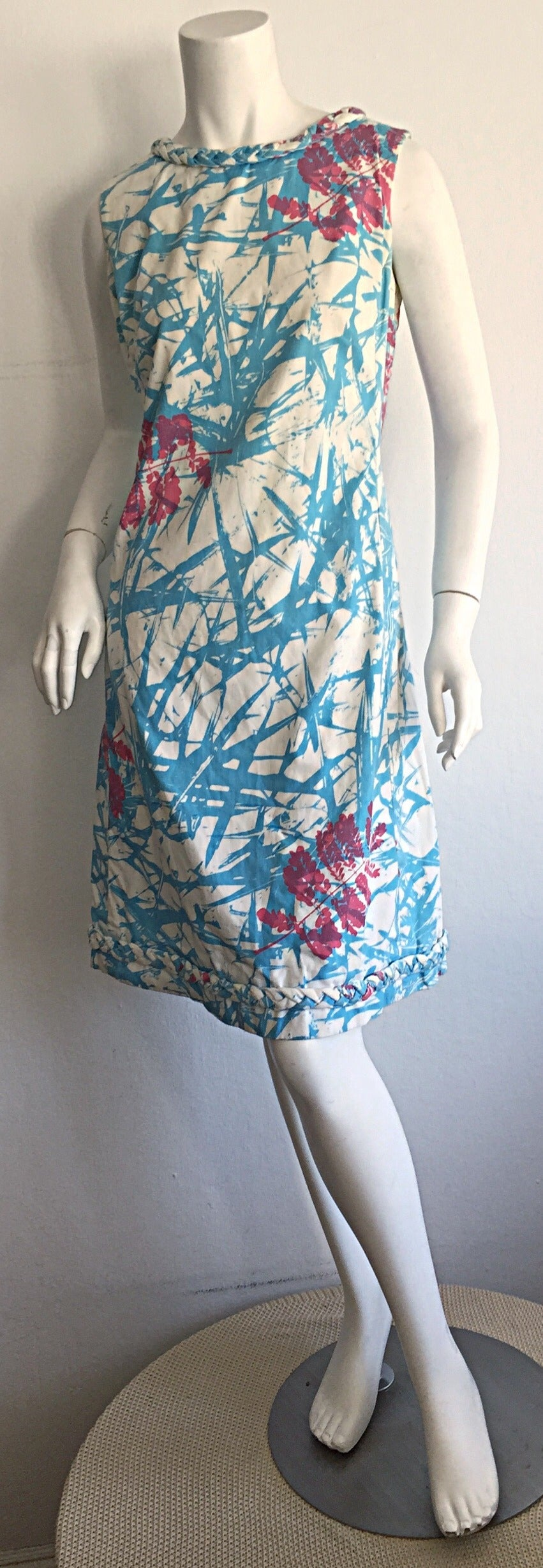 Rare 1960s Vintage ' THe Lilly ' by Lilly Pulitzer ' Thorn ' Cotton Shift Dress 2