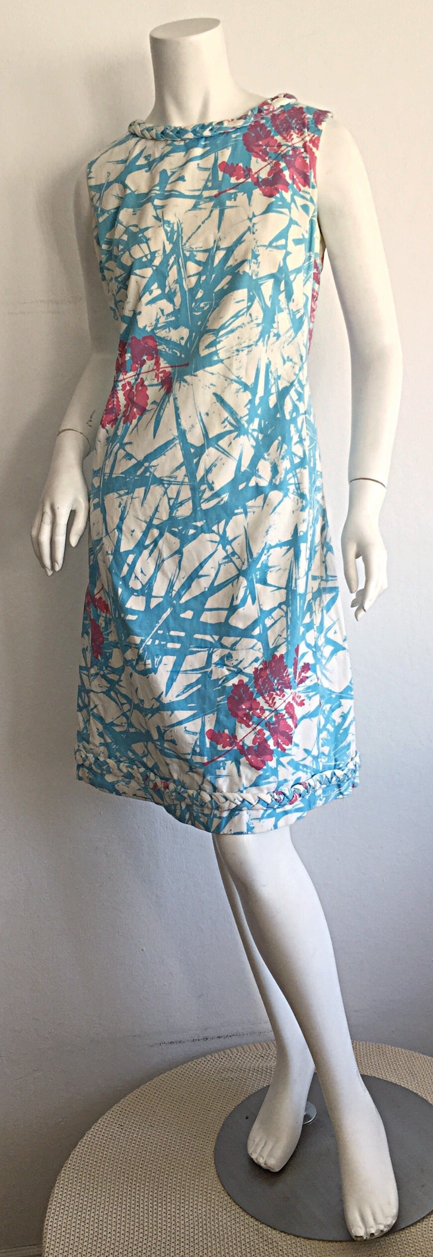 Rare 1960s Vintage ' THe Lilly ' by Lilly Pulitzer ' Thorn ' Cotton Shift Dress 8
