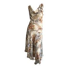 Pretty Rozae Nichols Floral 3 - D ' Autumn Harvest ' Silk Dress w/ Appliqué