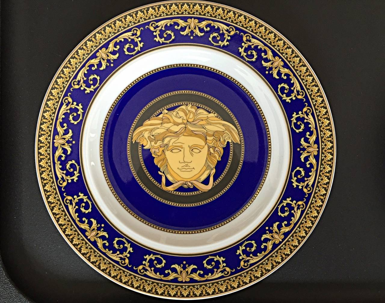 Serve in style with these incredible brand new vintage Versace plates! Signature style on  sc 1 st  1stDibs & Brand New Vintage Gianni Versace China Salad / Appetizer Plates ...