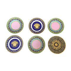 Brand New Vintage Gianni Versace China Salad / Appetizer Plates ( Set of 6 )