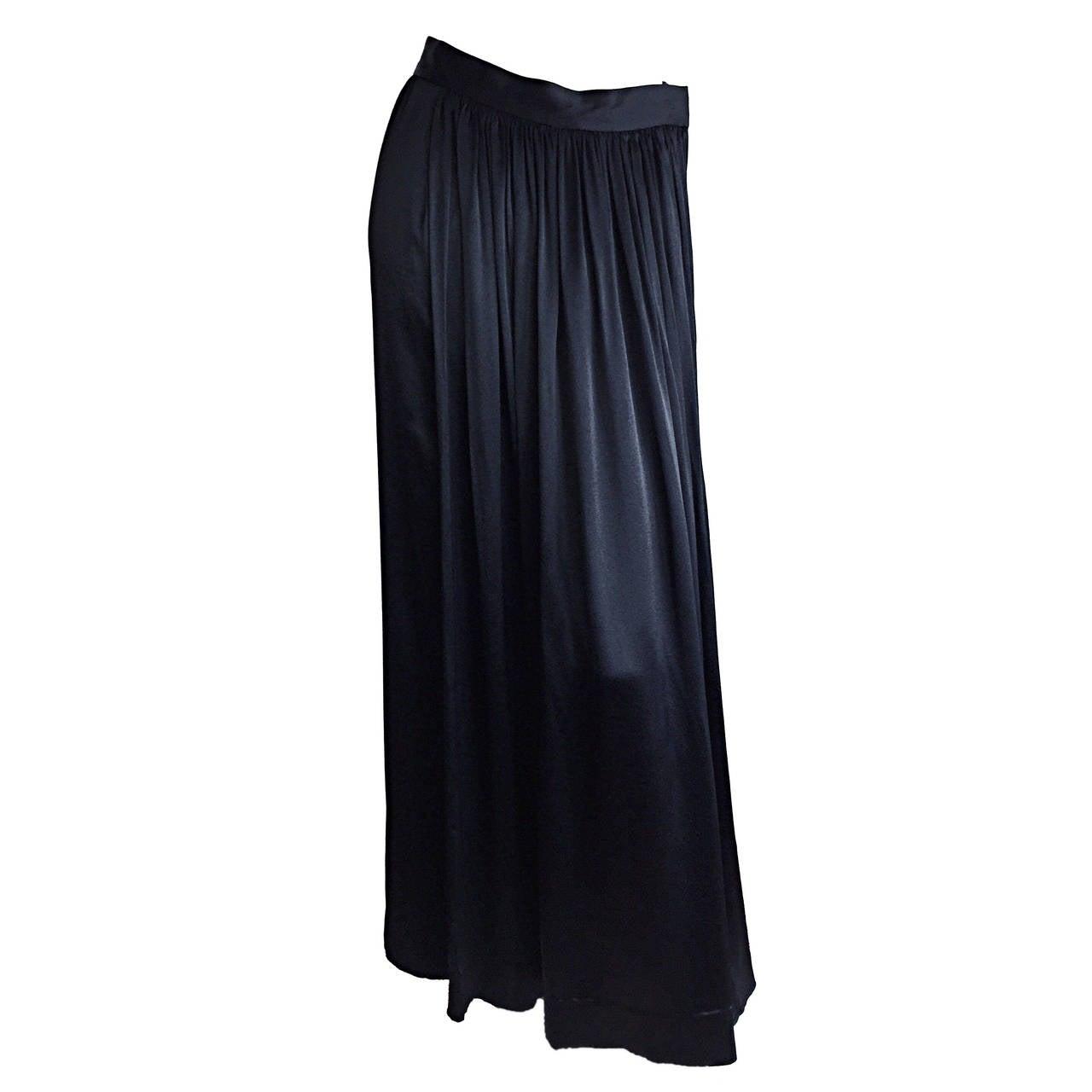Unbelievable Vintage Yves Saint Laurent Rive Gauche Liquid Silk Maxi Skirt