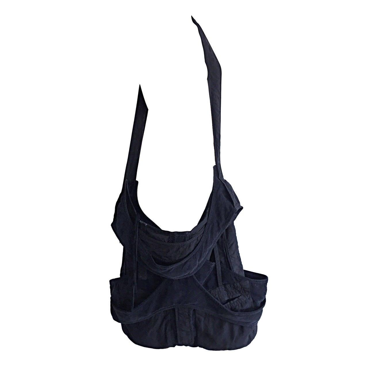 Limited Edition Balenciaga ' Matrix ' XL Black Weekender Crossbody Unisex Bag
