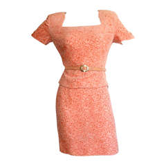 Galanos Vintage Skirt Suit w/ Belt NEW w/ Tags $4,370