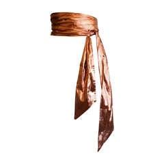 Lanvin Vintage Obi Raw Silk Jumbo Extra Long Wrap Belt