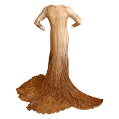 Bill Blass Vintage Gown Original Runway Sample w/ Dramatic Train