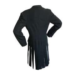 "Yohji Yamamoto Vintage ""Car Wash"" Tail Black Blazer Jacket"