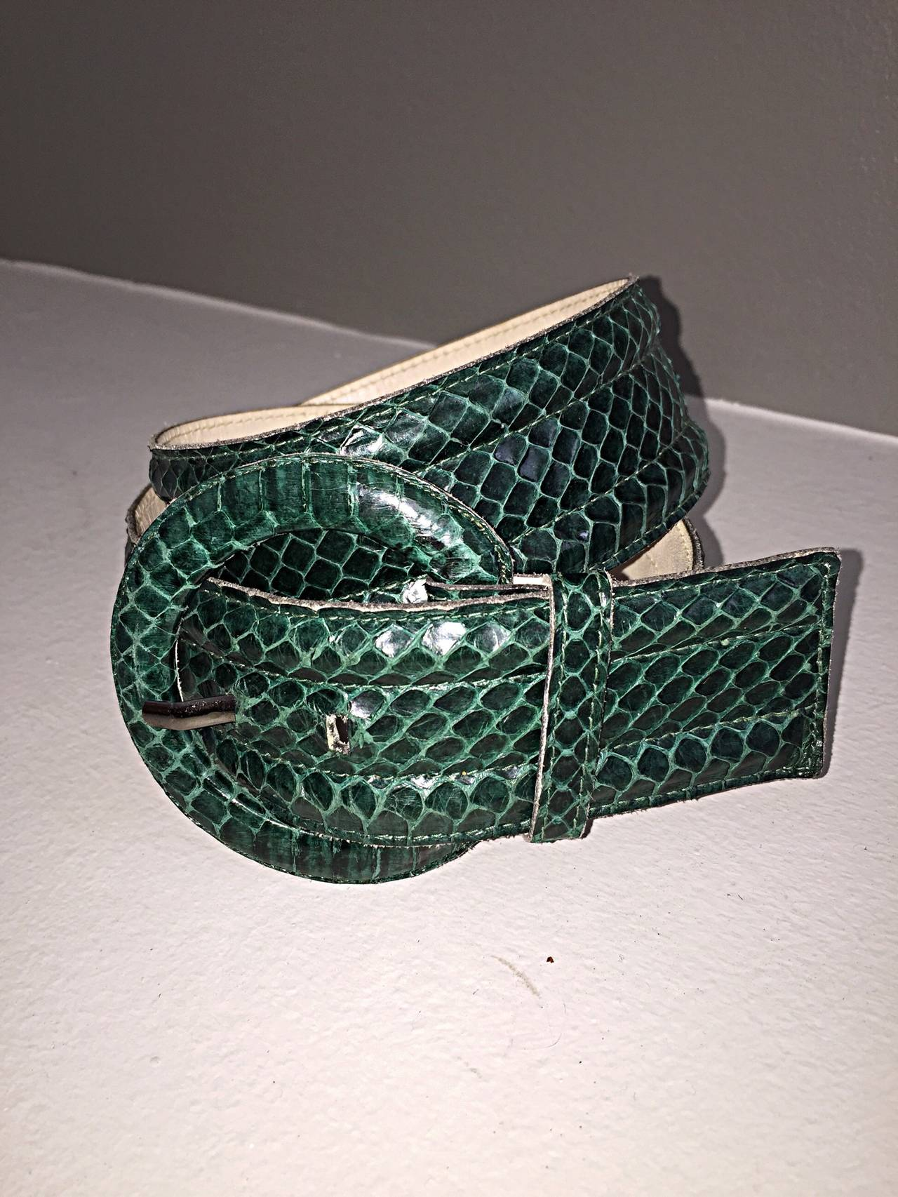 Vintage Yves Saint Laurent Hunter Forest Green Snake