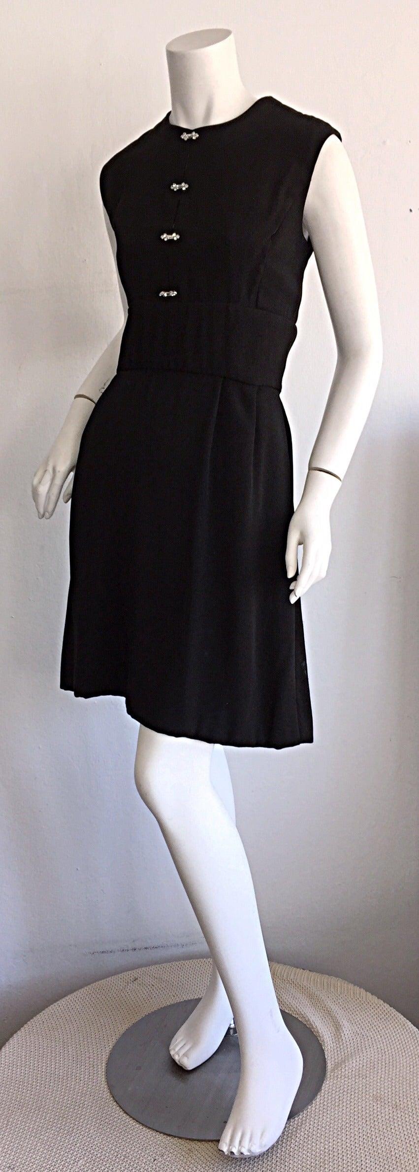 1960s Ceil Chapman Vintage Little Black Dress W