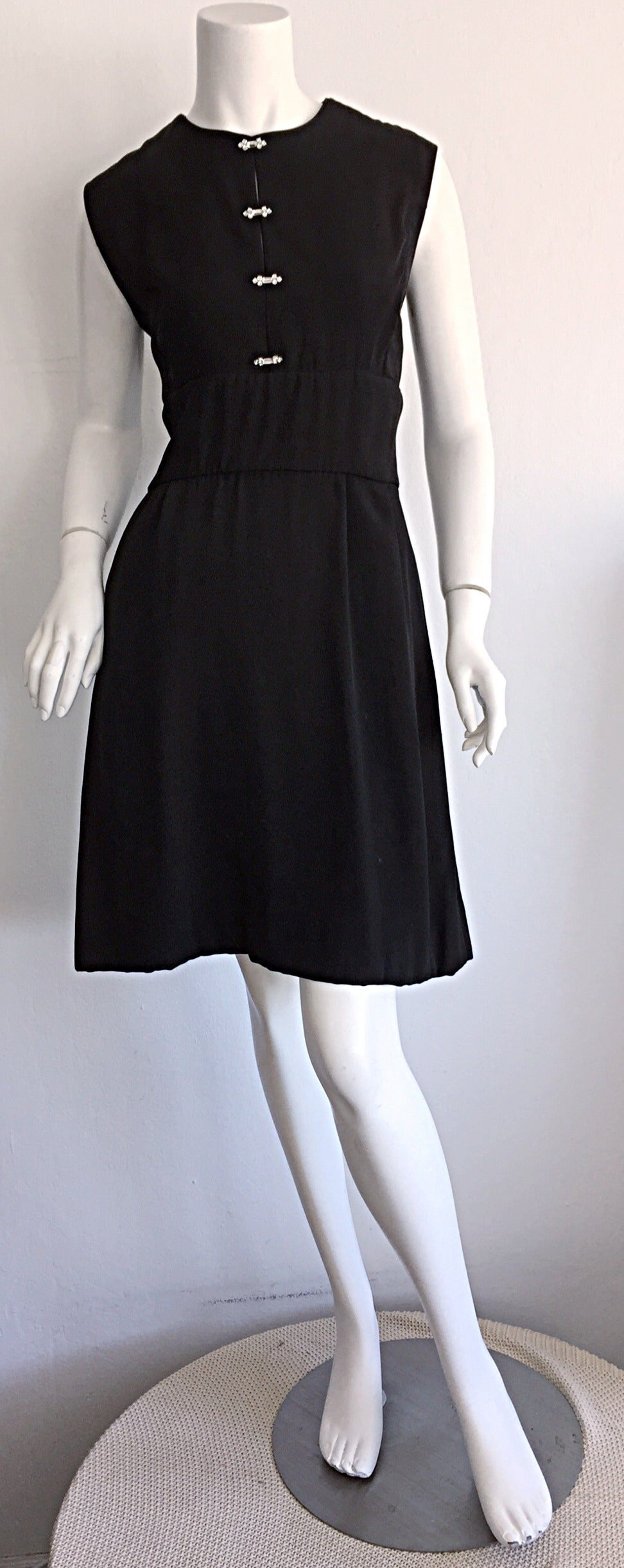 1960s Ceil Chapman Vintage Little Black Dress W