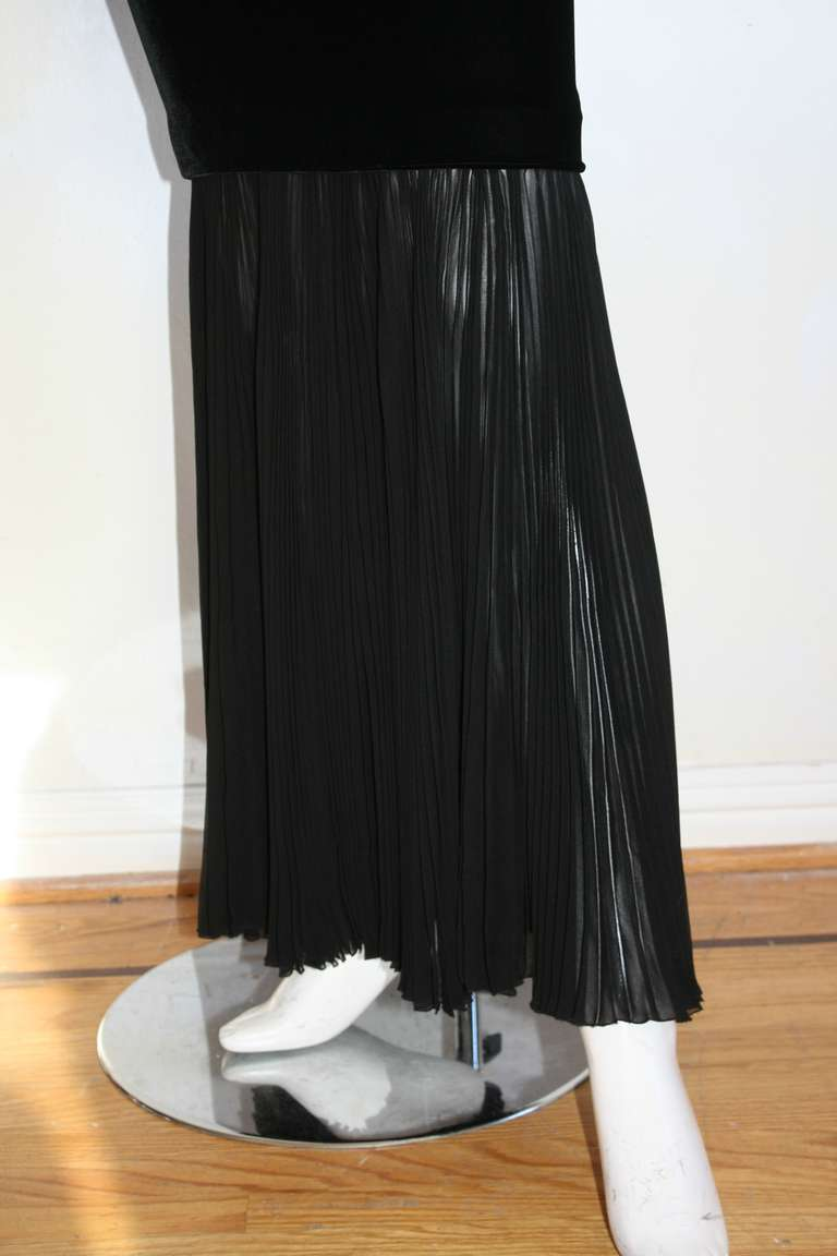 Jean Paul Gaultier Vintage Black Velvet Sexy Mermaid Fishtail Gown 7