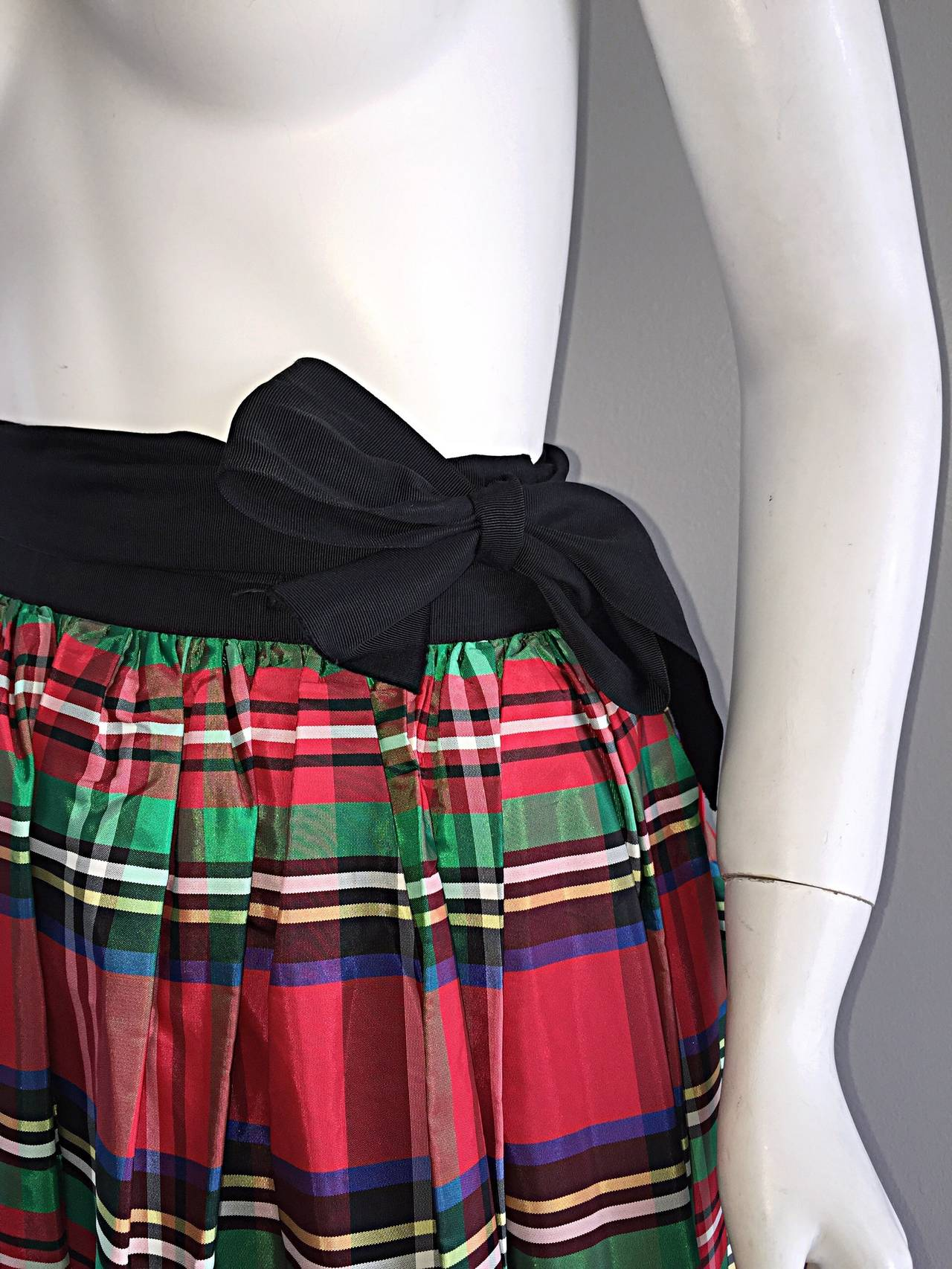 Plaid Taffeta Skirt - Skirts