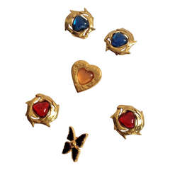 Yves Saint Laurent YSL Vintage Jewelry Hearts and Butterfly Lot