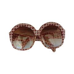 "Important 60s 70s Vintage Pierre Cardin Logo "" Bug Eye ' Glasses Sunglasses"