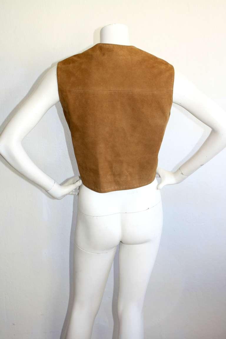 1960s Pierre Cardin Vintage Leather Suede Mod Space Age Vest 4